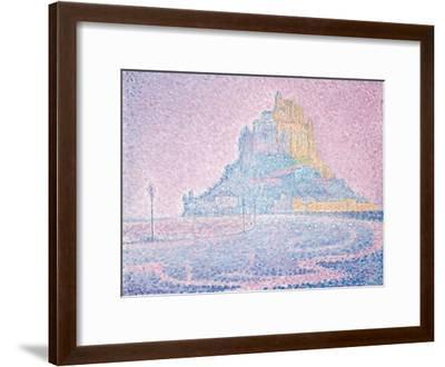 Mont Saint-Michel, Fog and Sun, 1897-Paul Signac-Framed Giclee Print