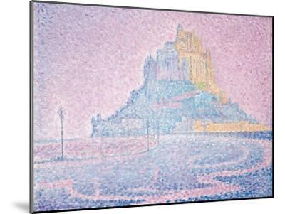 Mont Saint-Michel, Fog and Sun, 1897-Paul Signac-Mounted Giclee Print