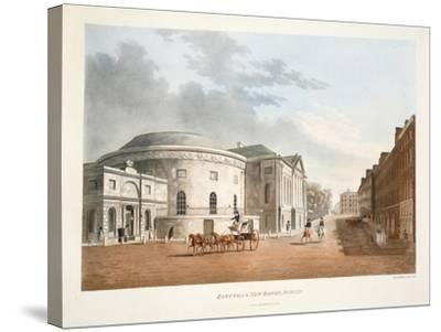 Rotunda and New Rooms, Dublin, 1795-James Malton-Stretched Canvas Print
