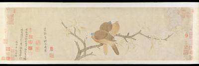Doves and Pear Blossoms after Rain-Qian Xuan-Framed Giclee Print