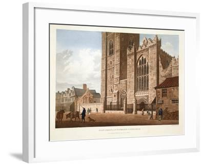 West Front of St. Patrick's Cathedral, Dublin, 1793-James Malton-Framed Giclee Print