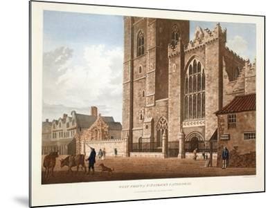 West Front of St. Patrick's Cathedral, Dublin, 1793-James Malton-Mounted Giclee Print