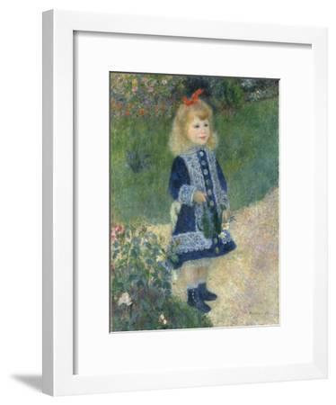 A Girl with a Watering Can, 1876-Pierre-Auguste Renoir-Framed Giclee Print