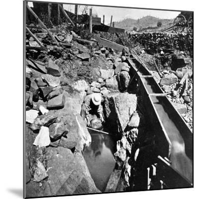 Placer Mining, Panning Out, from 'Gems of California Scenery' Published by Lawrence and…--Mounted Photographic Print