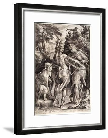 Minerva and Mercury Arming Perseus, 1604-Jan Harmensz Muller-Framed Giclee Print
