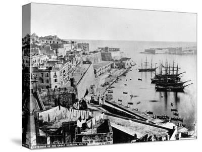 Entrance to the Great Harbour, Malta, C.1880--Stretched Canvas Print