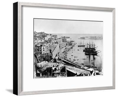 Entrance to the Great Harbour, Malta, C.1880--Framed Photographic Print