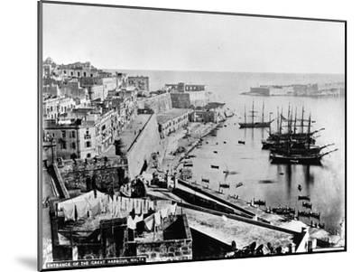 Entrance to the Great Harbour, Malta, C.1880--Mounted Photographic Print