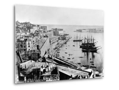 Entrance to the Great Harbour, Malta, C.1880--Metal Print