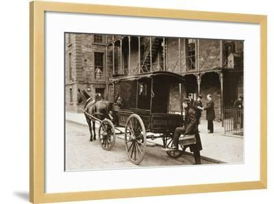 An Ambulance at Bellevue Hospital, New York City, 1896--Framed Giclee Print