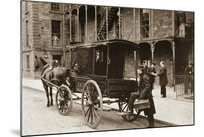 An Ambulance at Bellevue Hospital, New York City, 1896--Mounted Giclee Print