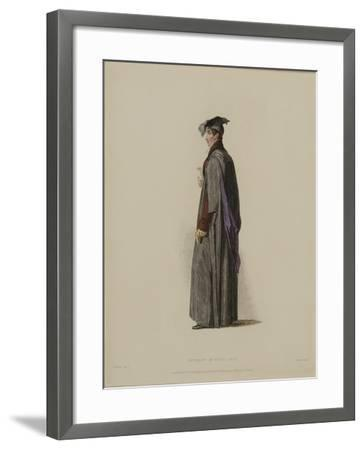 Student in Civil Law, Engraved by J. Agar, Published in R. Ackermann's 'History of Oxford', 1814-Thomas Uwins-Framed Giclee Print