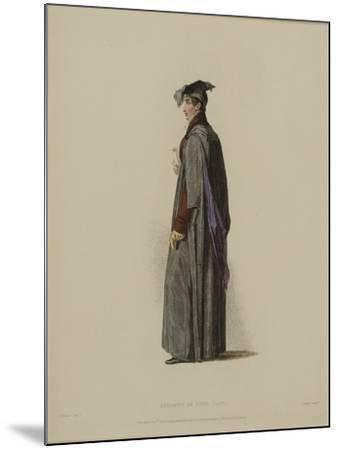 Student in Civil Law, Engraved by J. Agar, Published in R. Ackermann's 'History of Oxford', 1814-Thomas Uwins-Mounted Giclee Print