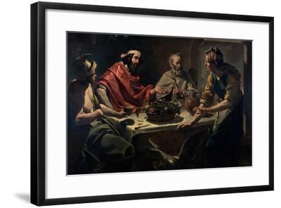 Philemon and Baucis Entertaining Jupiter and Mercury, C.1615-25-Abraham Janssens Van Nuyssen-Framed Giclee Print