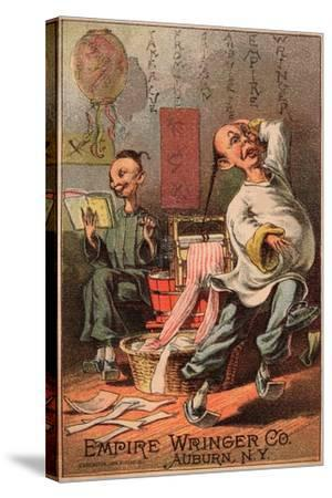 Empire Wringer Clothes Washer, C.1890--Stretched Canvas Print