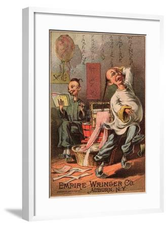 Empire Wringer Clothes Washer, C.1890--Framed Giclee Print
