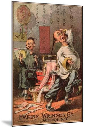 Empire Wringer Clothes Washer, C.1890--Mounted Giclee Print