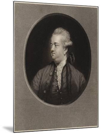 Edward Gibbon-Sir Joshua Reynolds-Mounted Giclee Print