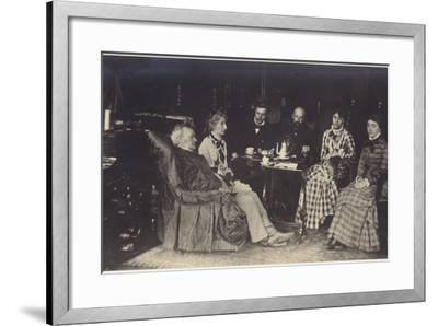 Portrait of Richard Wagner with Friends and Family-German photographer-Framed Photographic Print