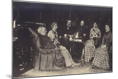 Portrait of Richard Wagner with Friends and Family-German photographer-Mounted Photographic Print