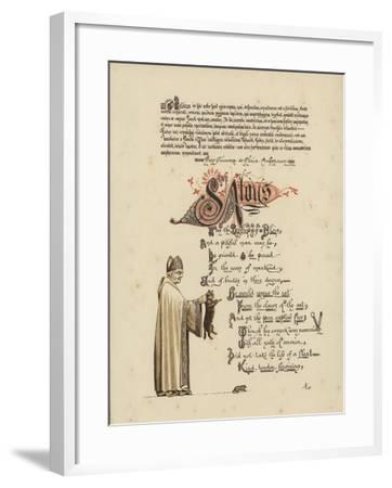 Illustrated Poem About a Saint and a Bishop Who Would Set a Rat Free from the Jaws of the Cat--Framed Giclee Print