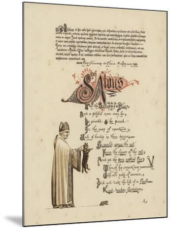 Illustrated Poem About a Saint and a Bishop Who Would Set a Rat Free from the Jaws of the Cat--Mounted Giclee Print