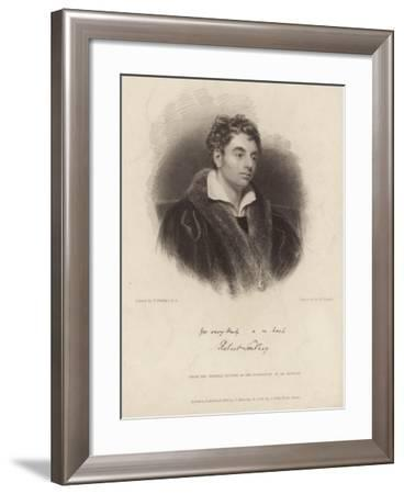 Portrait of Robert Southey-Thomas Phillips-Framed Giclee Print