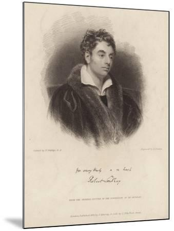 Portrait of Robert Southey-Thomas Phillips-Mounted Giclee Print