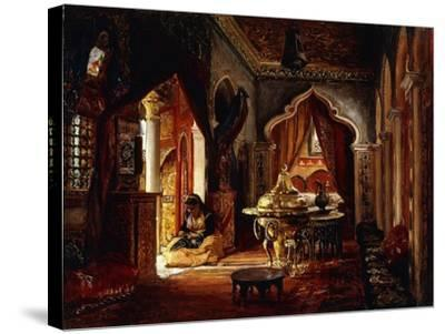 Within the Seraglio, 1879-Frederick Arthur Bridgman-Stretched Canvas Print