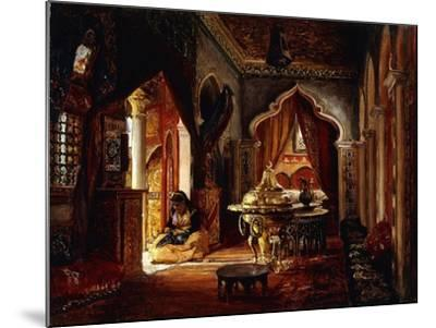 Within the Seraglio, 1879-Frederick Arthur Bridgman-Mounted Giclee Print