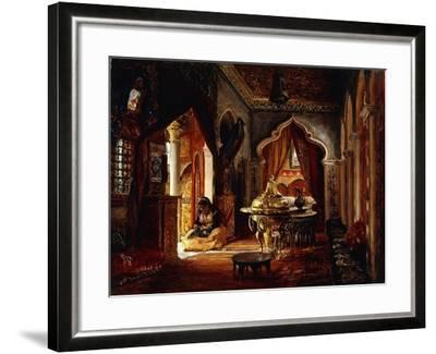 Within the Seraglio, 1879-Frederick Arthur Bridgman-Framed Giclee Print