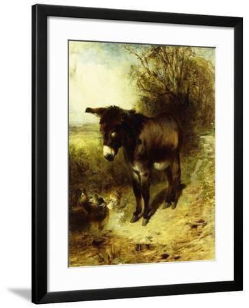 A Brown Study, 1853-William Huggins-Framed Giclee Print