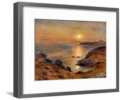 The Setting of the Sun at Douarnenez; Couche De Soleil a Douarnenez, 1883-Pierre-Auguste Renoir-Framed Giclee Print