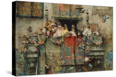 The Carnival in Rome; Il Carnevale Di Roma, 1881-Jose Benlliure Y Gil-Stretched Canvas Print