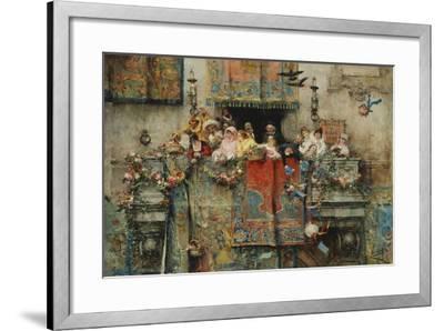 The Carnival in Rome; Il Carnevale Di Roma, 1881-Jose Benlliure Y Gil-Framed Giclee Print
