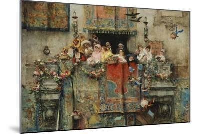 The Carnival in Rome; Il Carnevale Di Roma, 1881-Jose Benlliure Y Gil-Mounted Giclee Print