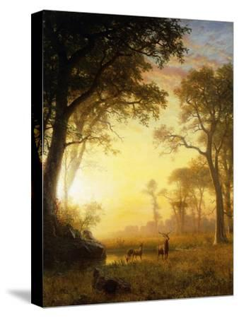 Light in the Forest-Albert Bierstadt-Stretched Canvas Print