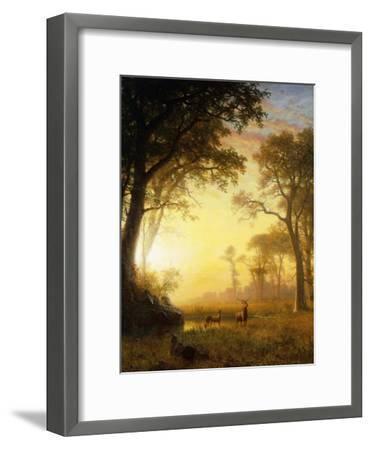 Light in the Forest-Albert Bierstadt-Framed Giclee Print