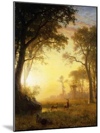 Light in the Forest-Albert Bierstadt-Mounted Giclee Print