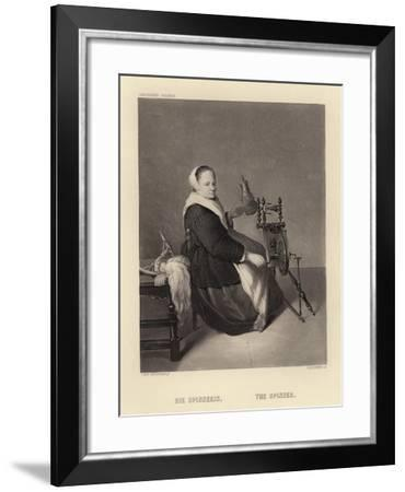 The Spinner-Caspar Netscher-Framed Giclee Print