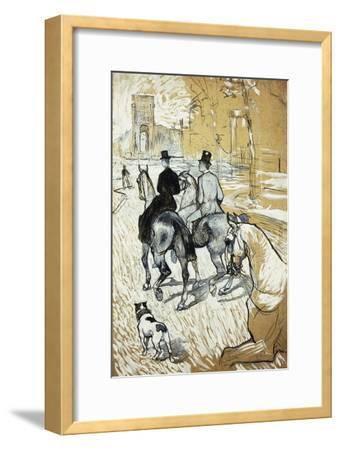 Horse-Riders Going Toward the Bois De Boulogne; Cavaliers Se Rendant Au Bois De Bologne, 1888-Henri de Toulouse-Lautrec-Framed Giclee Print