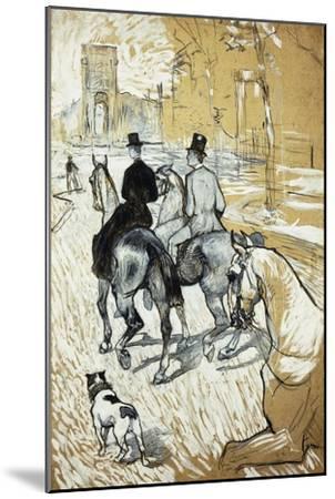 Horse-Riders Going Toward the Bois De Boulogne; Cavaliers Se Rendant Au Bois De Bologne, 1888-Henri de Toulouse-Lautrec-Mounted Giclee Print