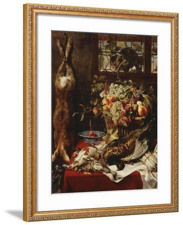 A Larder Still Life with Fruit, Game and a Cat by a Window-Frans Snyders Or Snijders-Framed Giclee Print