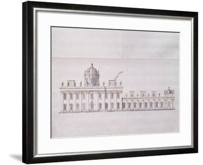 Castle Howard, Yorkshire: a Schematic Pencil Sketch Showing the Development of the Forecourt…-Sir John Vanbrugh-Framed Giclee Print