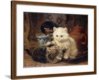 Afternoon Tea-Henriette Ronner-Knip-Framed Giclee Print