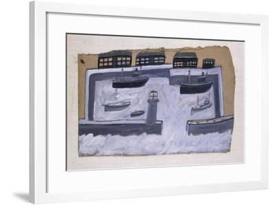 Houses and Ships-Alfred Wallis-Framed Giclee Print