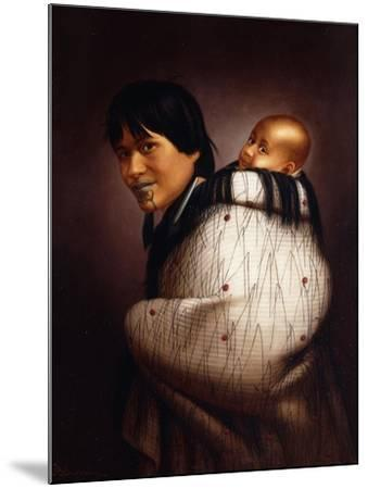 Ana Rupene and Child-Gottfried Lindauer-Mounted Giclee Print
