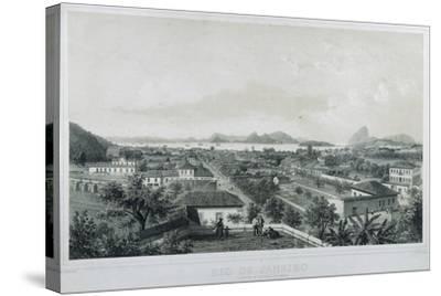 Nine Panoramic Views of Rio De Janeiro: Catette E Entrada Da Barra, 1862-Philippe and Ciceri, Eugene Benoist-Stretched Canvas Print