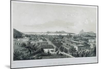 Nine Panoramic Views of Rio De Janeiro: Catette E Entrada Da Barra, 1862-Philippe and Ciceri, Eugene Benoist-Mounted Giclee Print