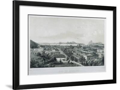Nine Panoramic Views of Rio De Janeiro: Catette E Entrada Da Barra, 1862-Philippe and Ciceri, Eugene Benoist-Framed Giclee Print